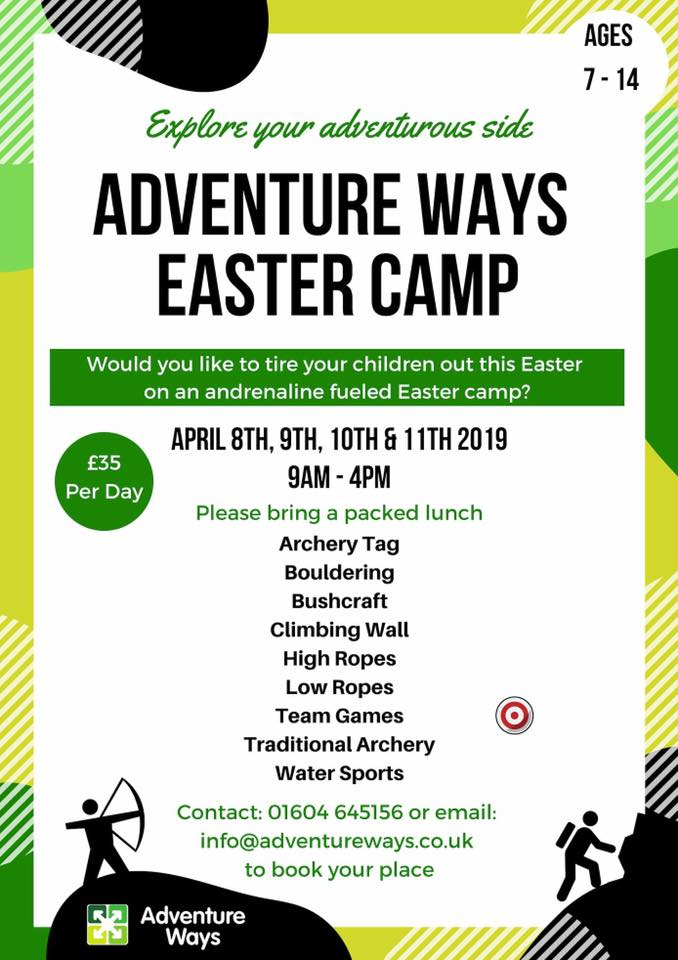 Adventure Ways Easter Camp 2019